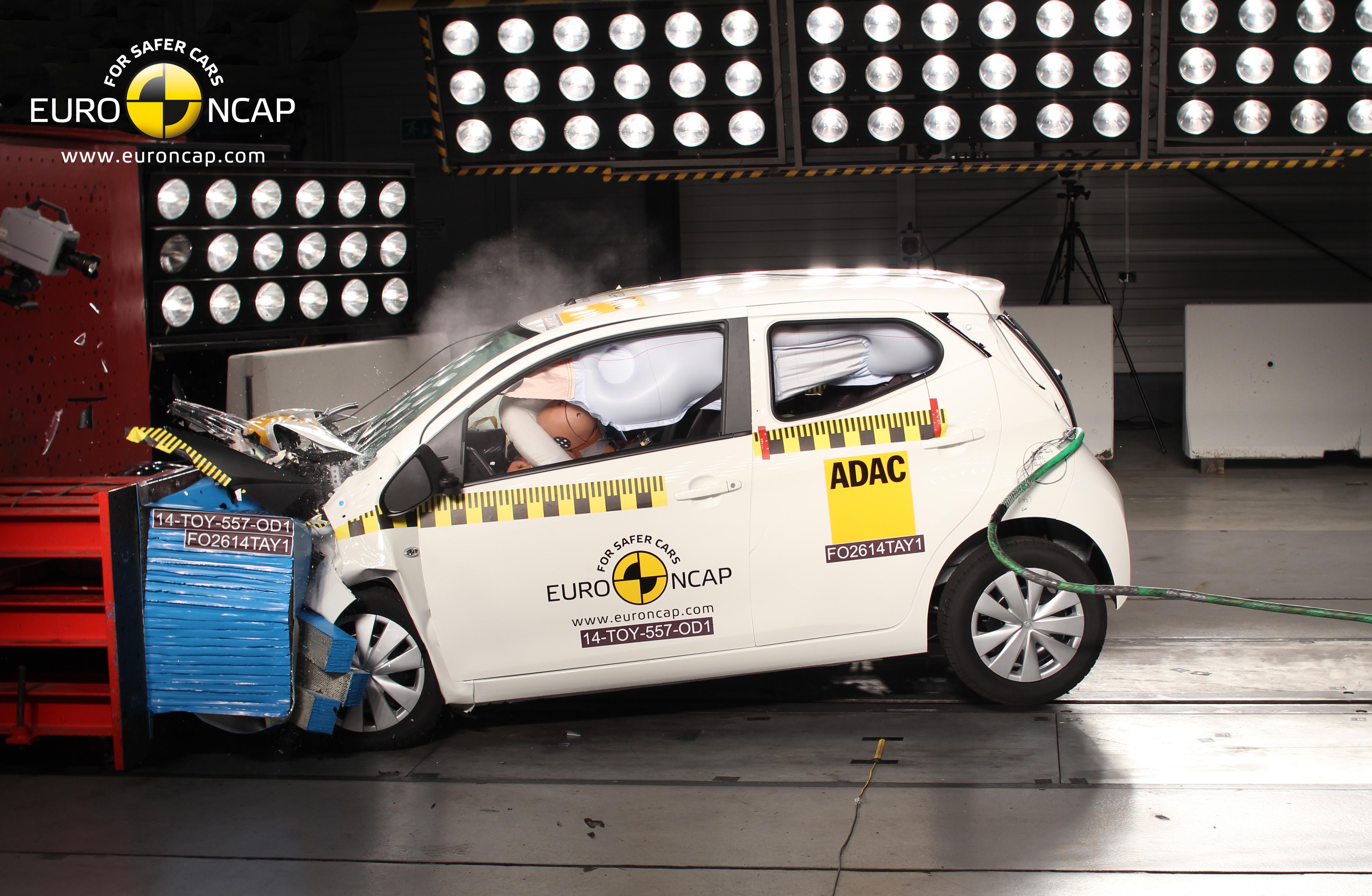 Kollisjonstest Av Toyota Aygo Peugeot 108 Citroen C1 Naf