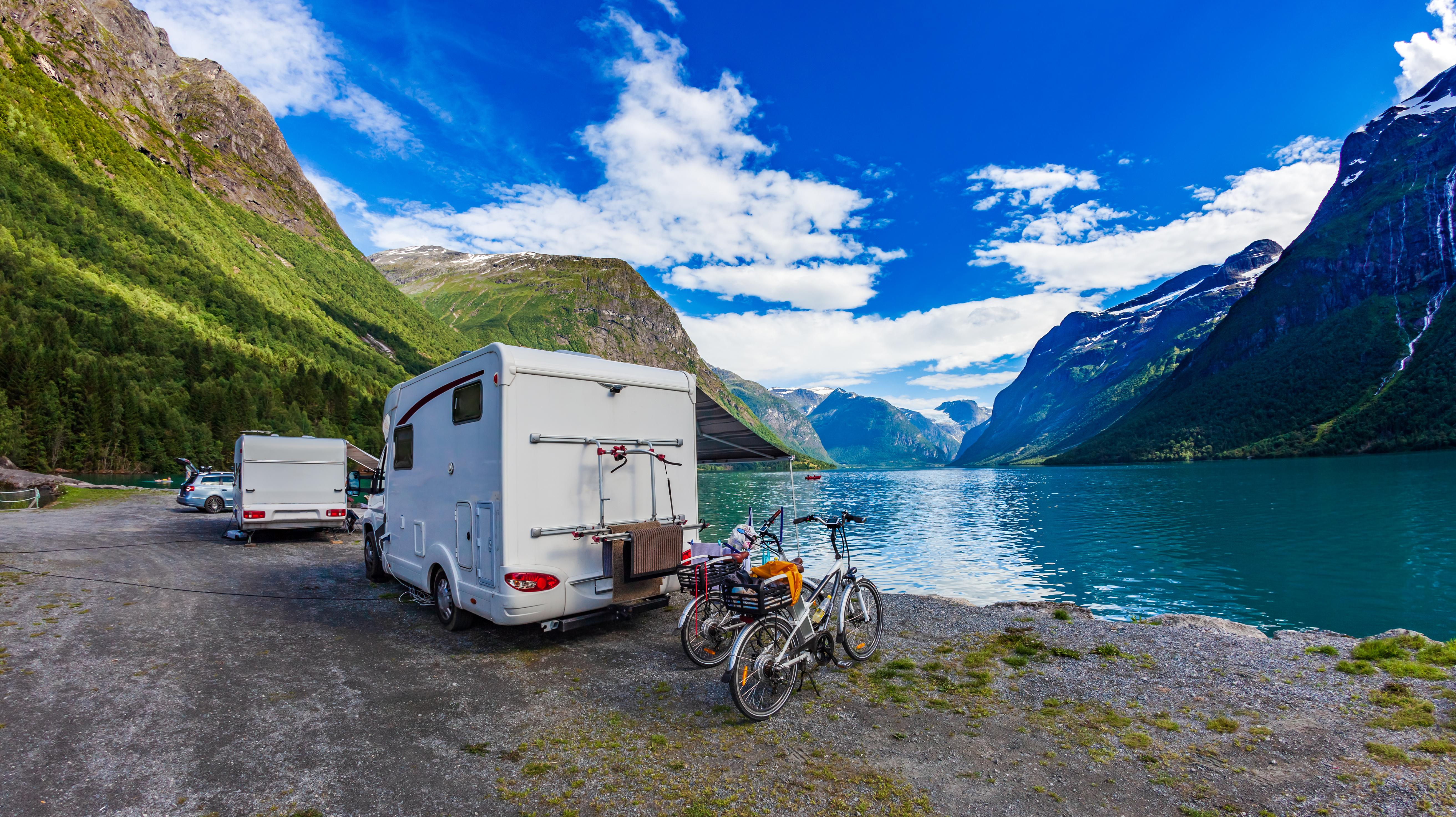 Camping i Norge   Vintercamping med bobil og campingvogn