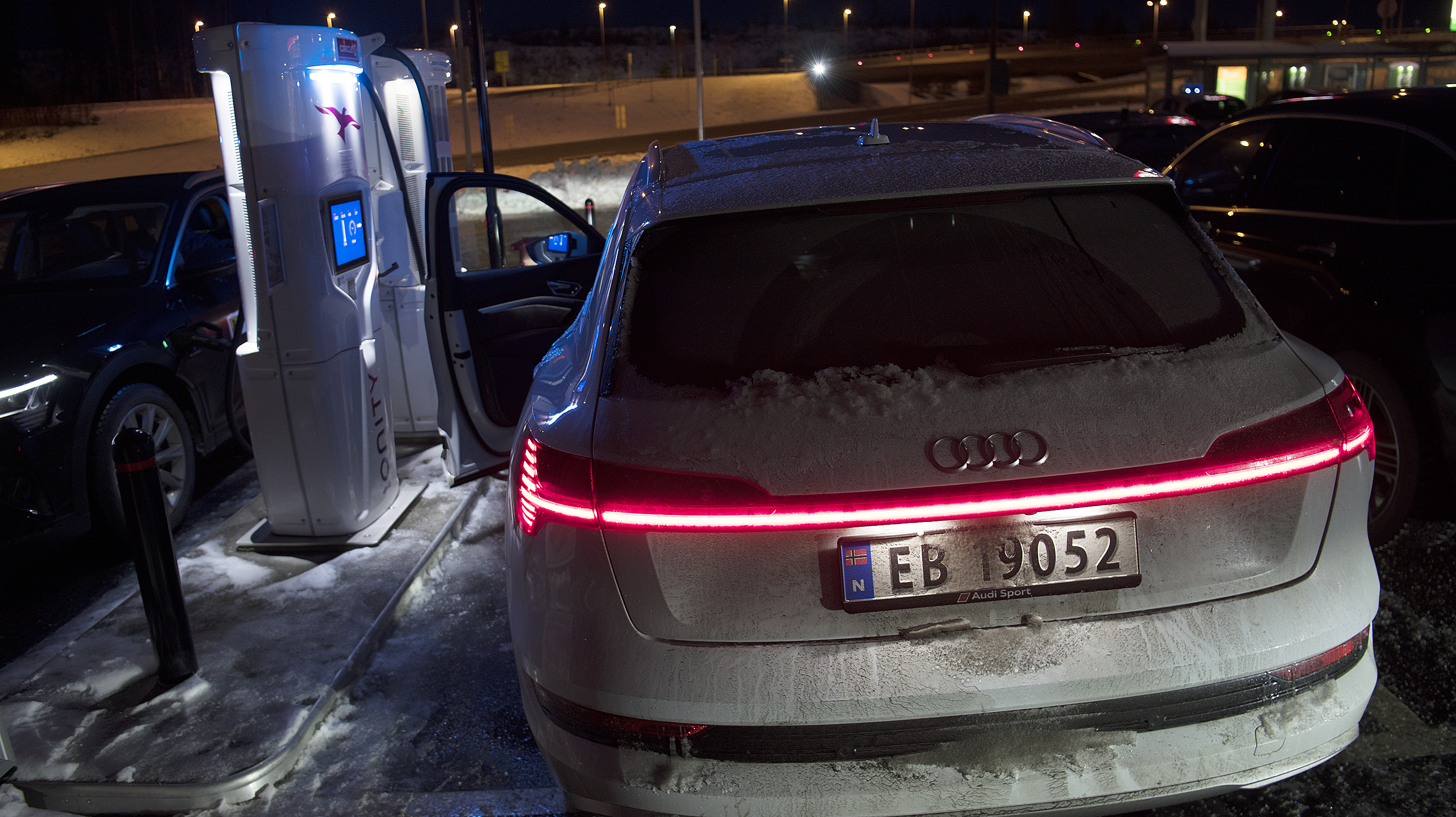 Ladetest Audi e tron 50 quattro vinter 2020 | NAF