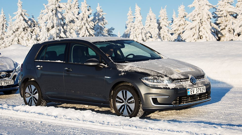 ladetest av volkswagen e-golf vinter 2020 | naf